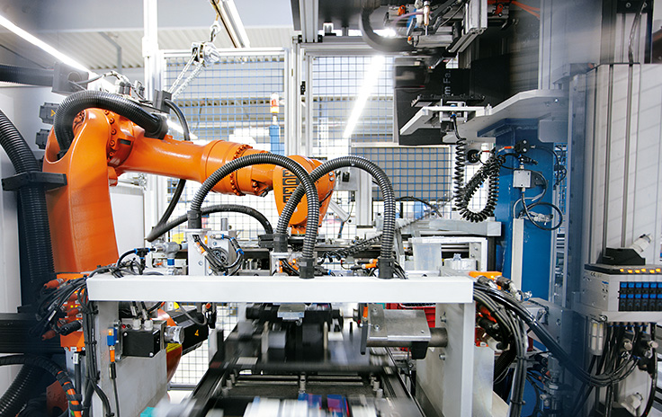 Küster ACS GmbH, Germany: Assembly line with PC-based Control produces more than 1 million electronic parking brakes per year