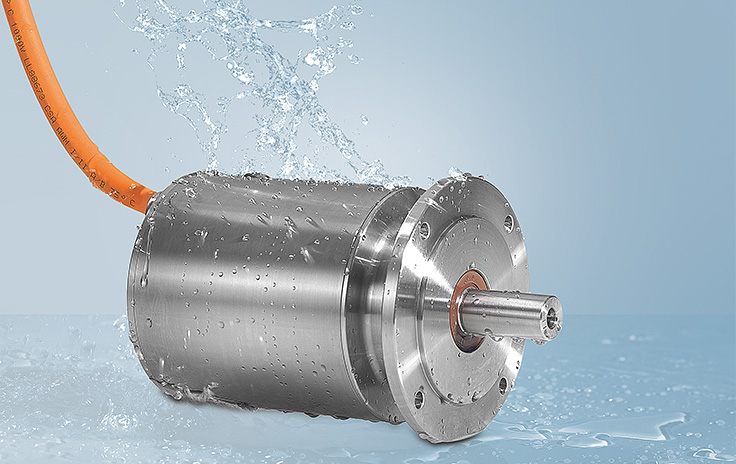 "No corners and edges. New ""Hygienic Design"" AM8800 stainless steel servomotor series"