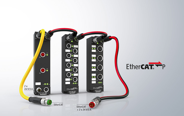 EtherCAT P with a wide range of IP 67 I/O options