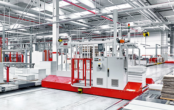 Automated parts transport at Nobilia: PC-based control increases efficiency in production logistics