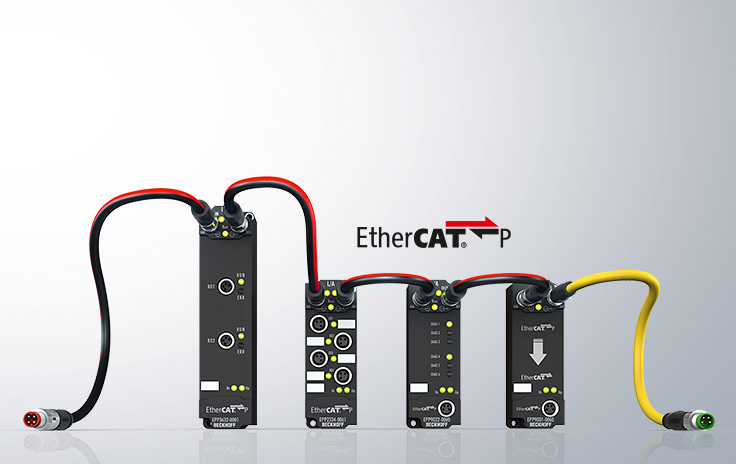 EtherCAT P: Maximized flexibility through mini-box modules with IP 67 protection rating